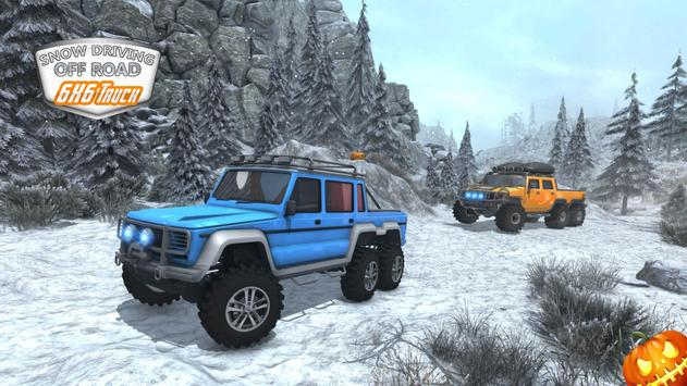 Snow Driving Offroad 6x6 Truck screenshot 5