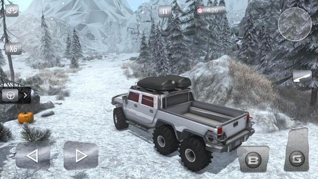 Snow Driving Offroad 6x6 Truck screenshot 7