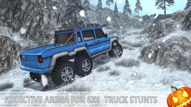 Snow Driving Offroad 6x6 Truck screenshot 8
