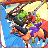 Fantastic Superhero Horse Riding: Wild Horse Games icon