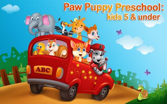Paw Puppy Preschool Patrol apk screenshot