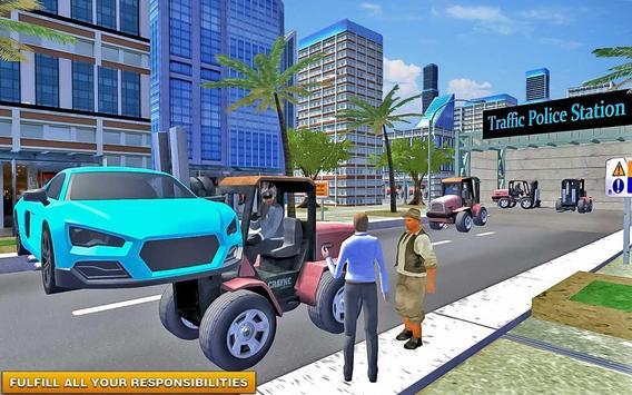 Police Forklift Car Simulator poster