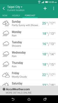 Cuaca HTC screenshot 2