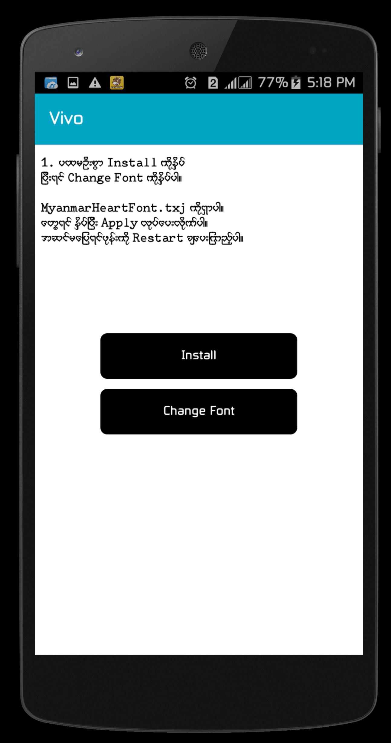 Myanmar Heart Font for Android - APK Download
