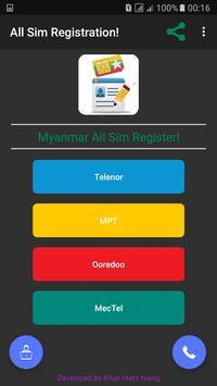 Myanmar All SIM Card Register! 1 6 (Android) - Download APK
