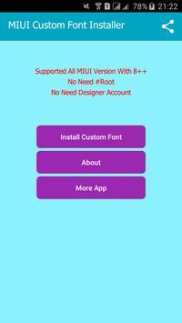 Mi Custom Font Installer(MIUI) apk screenshot