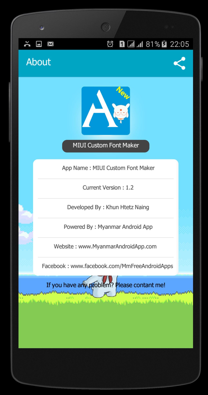 MIUI Font Maker(Font2MTZ) for Android - APK Download