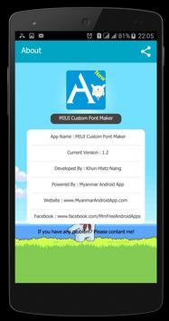 Mi Font Maker(FontToMtz) apk screenshot