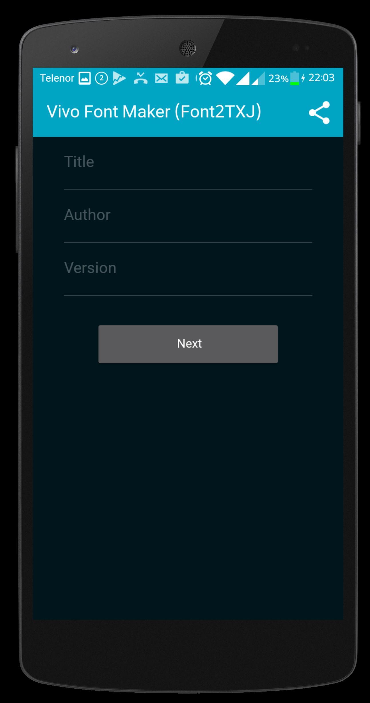 Vivo Font Maker[Font2Txj] for Android - APK Download