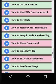 How to Snowboard Guide Videos apk screenshot