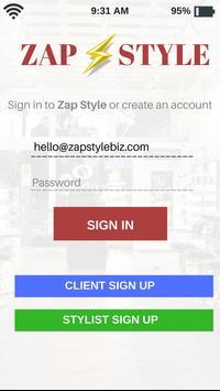ZapStyle App screenshot 1