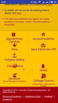TTD Seva Online - TTD Online booking screenshot 4