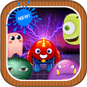 Happy Monster Crush Match 3 Game Puzzle icon