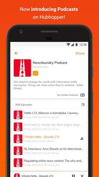 Hubhopper: Latest News and Free Podcast App पोस्टर