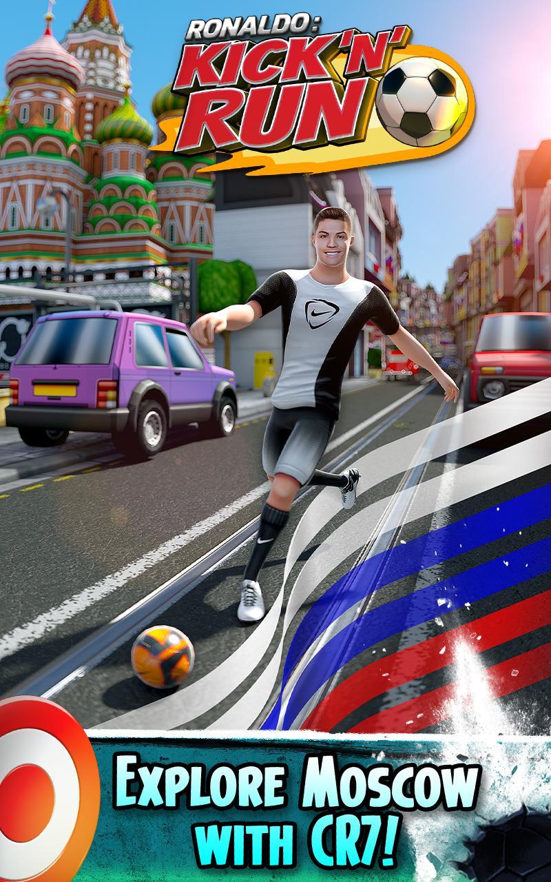 Cristiano Ronaldo Kick N Run Football Runner For