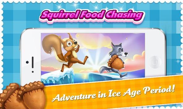 Squirrel Run Ice Age Food Dash poster