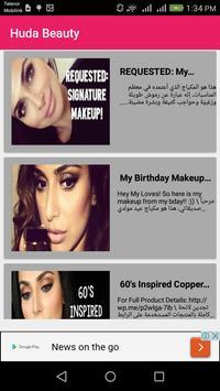 TGM Huda Beauty Makeup Videos apk screenshot