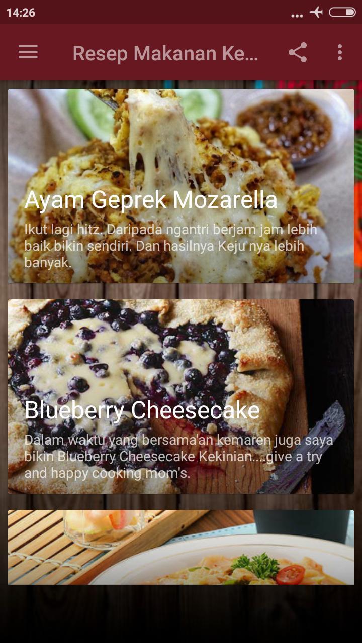 Resep Masakan Kekinian For Android Apk Download