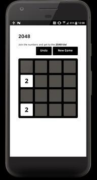 2048 Black & White screenshot 1