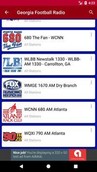 Georgia Football Radio apk screenshot