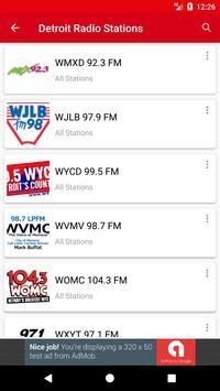 Detroit Radio Stations скриншот 1