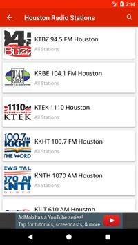 Houston Radio Stations poster