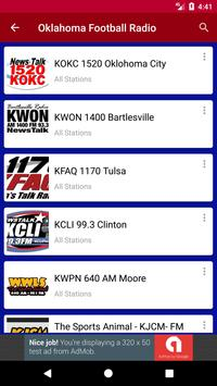 Oklahoma Football Radio screenshot 1