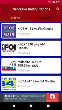Nebraska Radio Stations poster