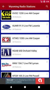 Wyoming Radio Stations screenshot 1