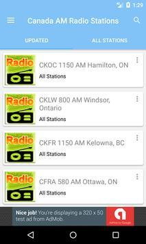 Radio AM Canada poster