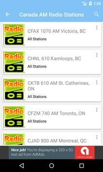 Radio AM Canada screenshot 1