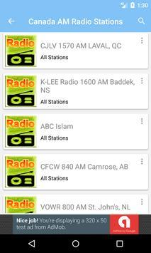 Radio AM Canada screenshot 2