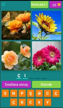4 şəkil 1 söz poster