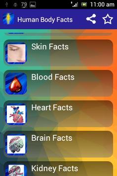 Human Body Facts 4 Kids apk screenshot