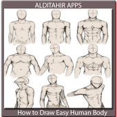 How to Draw Easy Human Body icon