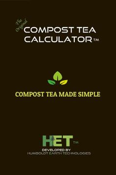 Compost Tea Calculator Free poster