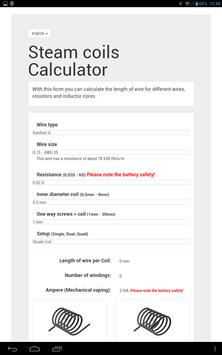 Steam coils calculator apk download free tools app for android steam coils calculator apk screenshot greentooth Images