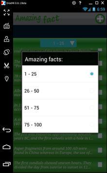 Hundred amazing Facts apk screenshot