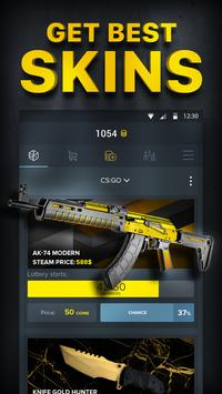 FS free skins, cases, lotteries poster