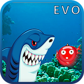 Hungy Megalodon Shark Diving icon