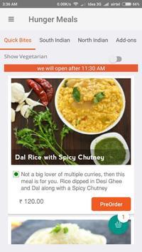 HungerMeals apk screenshot