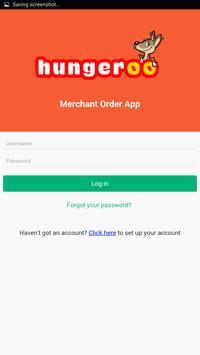 Hungeroo Merchant App screenshot 1