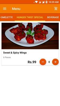 Hunger Twist - Food Ordering App screenshot 3