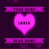 Valentine Name Live Wallpaper icon