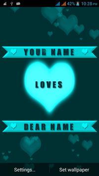 Valentine Name Live Wallpaper poster