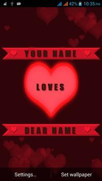 Valentine Name Live Wallpaper apk screenshot