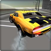 Classic car simulation 3D icon