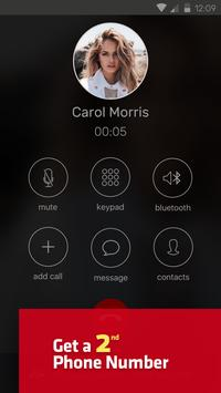Hushed Different Number App Get a 2nd Phone Number poster