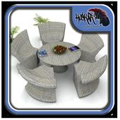 Rattan Garden Furniture Design icon