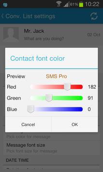Sliding SMS Pro screenshot 5